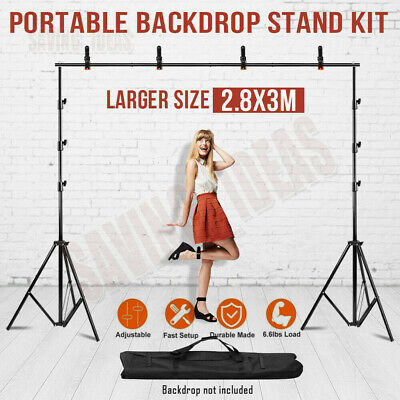 Photo Studio Black White Green Backdrop Chromakey Screen Background Stand Kit UK