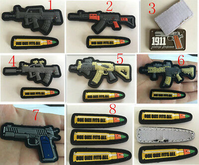 Army weapons for bullet Tactical Morale Hook Loop PVC Patch Badge armbands