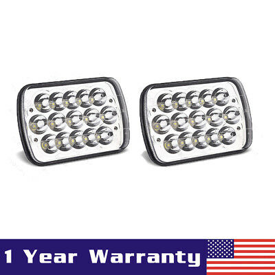 """Pair 5X7"""" 7X6"""" LED Headlight Replacement Sealed Beam for Jeep Cherokee XJ Trucks"""