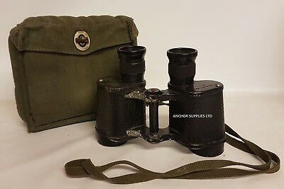 Ex British Army No2 Mk2 X6 Binoculars with 58 Patt Webbing Case (A882)