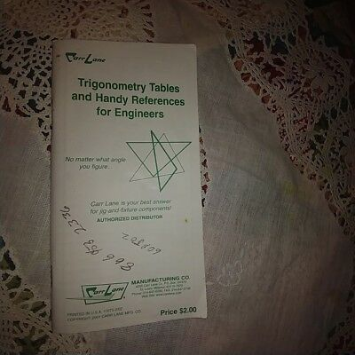 Carr Lane Trigonometry Tables & Handy References For Engineers Trig Book