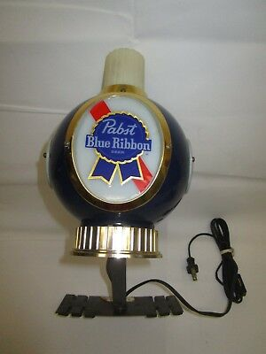 Vintage PABST BLUE RIBBON Beer Electric Mountable Wall Sconce / Mancave Idea!