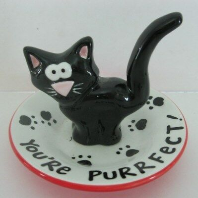 Lorrie Veasey Our Name Is Mud Cat Ring Holder