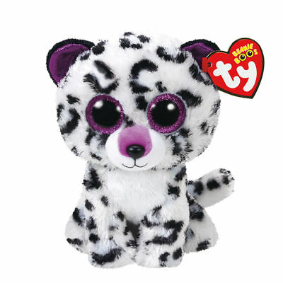 d2db2d091 Claire s Girl s TY Beanie Boo Small Violet the Leopard Soft Toy In White
