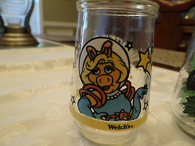 WELCH'S  Muppets in Space Miss Piggy  Jelly Glass