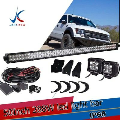 52inch LED Work Light Bar Curved Offroad Truck Jeep Ford Baot Fog ATV UTE SUV 50