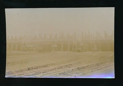 Railway TRAFFORD PARK Engine Sheds pre1919 RP PPC over exposed by Pouteau