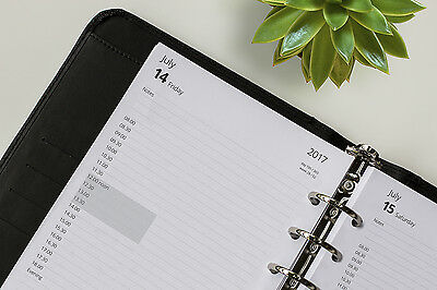 Mid-Year Personal & A5 Appointment Day Per Page Refills 2018 2019 (Fits Filofax)