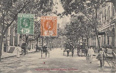 Ceylon: 1914: picture post card Colombo Chatham Street
