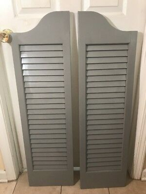 2- Vintage Wooden Shutters 41 In. Tall 11.5 Width, 1 In.thick