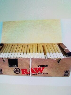 Raw King Size Empty Cigarette Tubes 200 Count Rolling Tobacco Authentic RYO NEW