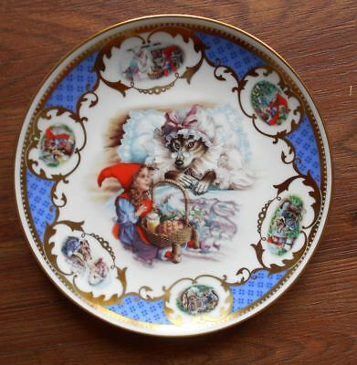 Vintage Collector Plate Little Red Riding Hood Fairy Tale Limoges France Jégou