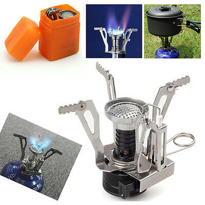 Ultralight Backpacking Gas Butane Propane Canister Outdoor Camp Stove Burner