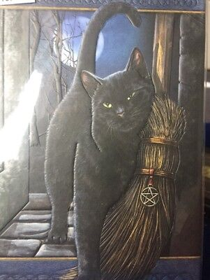 Fantasy Magie Hexe Notizbuch mit Katze A Brush with Magic by Lisa Parker