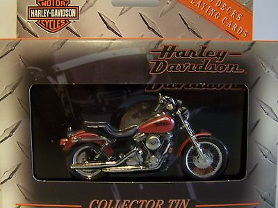 Playing Cards HARLEY-DAVIDSON DYNO SUPER GLIDE 2 Sets Collectible Tin 1999