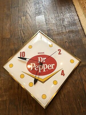 Vintage Dr Pepper PAM Clock RARE Working