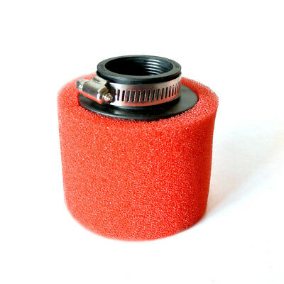 RED 40mm Foam Air Filter Pod Cleaner For 125cc PIT Quad Dirt Bike ATV Buggy