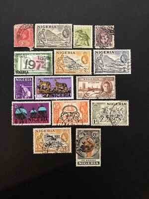 Nigeria Used British Colony/Africa Stamps- Lot A-61230
