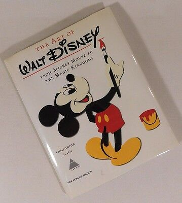The Art Of Walt Disney Christopher Finch Mickey Mouse Magic Kingdoms 1975 HCDJ