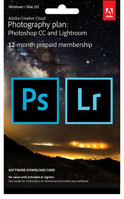 New Adobe - Creative Cloud Photography Plan - Digital Delivery