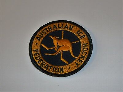 "Australian Ice Hockey Federation Patch ~ New Patch UNSEWN ~ 3"" ~ Colorful ~ LOOK"