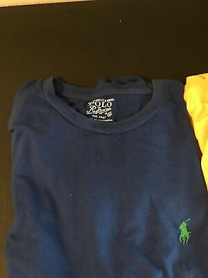 Mens Ralph Lauren Polo T Shirts Med Lot of 3 Blue, Black, Yellow