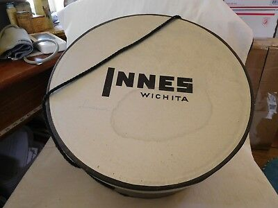 7-2018----Vintage Hat Box---Innes, Wichita--7 X 14 Inches-Solid And Good--Lqqkie