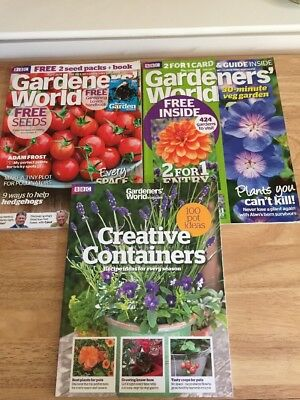 Gardeners World Magazines Plus Creative Containers Book 2018 Issues
