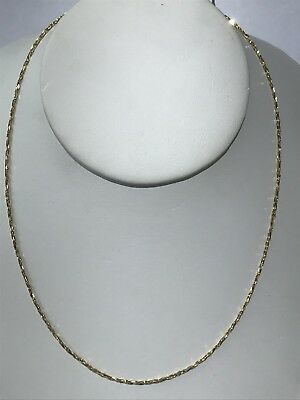 Gorgeous Simple Nice 14KT Yellow Gold 585 Mesh Style Chain Necklace 16 Inches