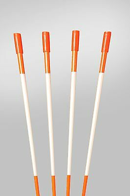 Driveway Markers Snow Stakes 25 Pack of 48 Inch Orange Reflective Markers