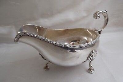silver plated gravy sauce boat
