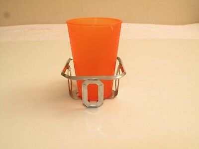 Vtg Chrome Art Deco Cup Holder Wall Mount Victorian 50'S Bathroom Kitchen