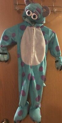 Monsters Inc Sulley Costume Disney Baby 12-18 Months Zip Up With Hood