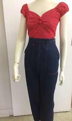 ,Original Vintage 50s Pants ,Jeans ,Large, High Waisted ,Pinup Rockabilly 1950's