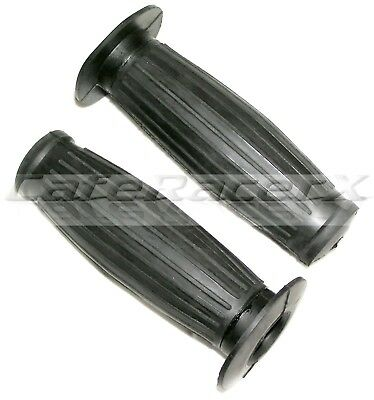 """Black Gran Turismo Style Motorcycle Grips Titty Grips Fit 7/8"""" Bars Cafe Racer"""