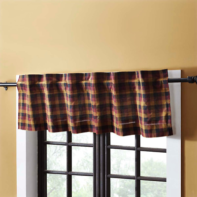Heritage Farms Cotton Rustic Country Cabin Lined Window Valance