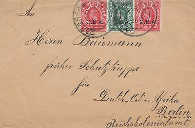 East Africa and Uganda Protecorates: 1920: letter to Schutztruppe DOA Berlin