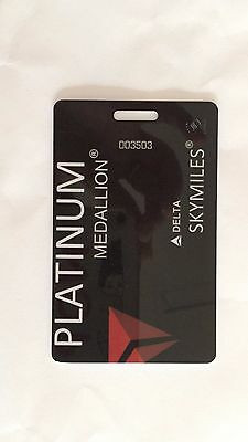 DELTA AIRLINES Platinum baggage tag SKY TEAM Luggage Priority FREE SHIPPING