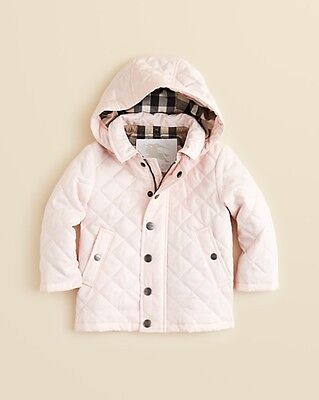 Nwt New Burberry Baby Girls Boys Jerry Red Pink Or Blue Quilted