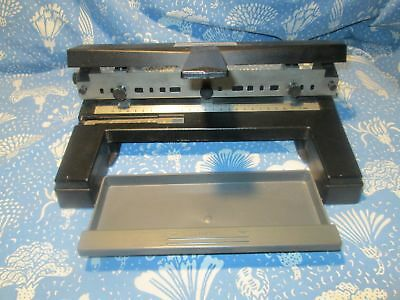 ACCO Model 450 Adjustable Heavy Duty Office 3 Hole Paper Punch