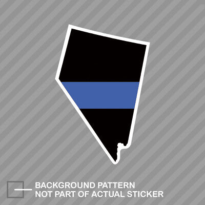 Virginia VA State Flag Thin Blue Line Police Sticker Decal #284 Made in USA