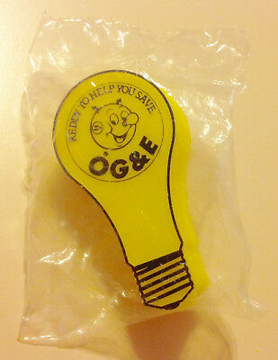 Vintage Oklahoma Gas & Electric (OG&E) 'Reddy Kilowatt' Yellow Night Light, NIP