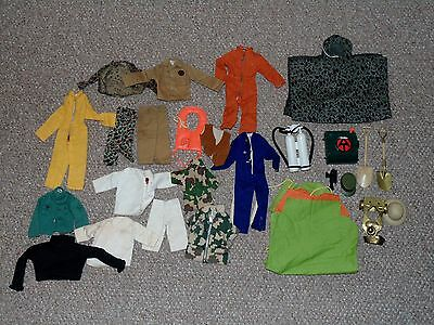 1960s/1970s Hasbro G.I. Joe Lot of 26 Articles of Clothing and Other Accessories