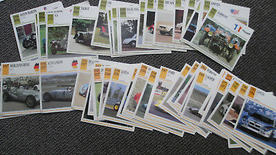 Classic Cars Collector Club cards by Iris Publishing estimated 275 Cards +Poster
