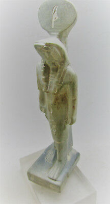 Beautiful Undated Egyptian Stone Statuette Of Horus