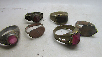 Nice Lot Of Ancient To Post Medieval Decorated Rings