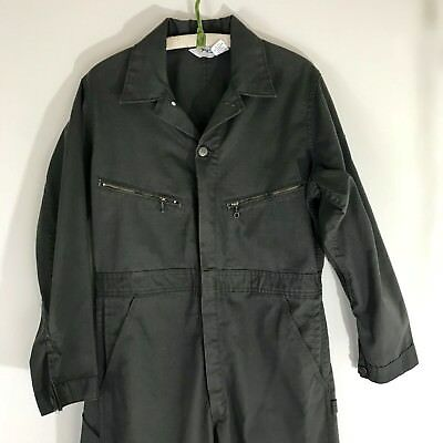 "Key Imperial Coveralls, 38L Brown Jumpsuit Vintage Made in USA 31"" inseam"