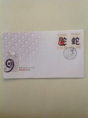 2013 - Australia - Christmas Island Year of The Snake  FDC