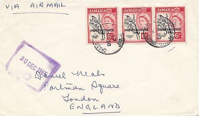 Jamaica: 1963: letter to London