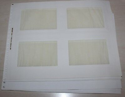 """Parker Heat Seal Photo Album Refill Pages #35H 35 mm 3-1/2"""" x 5"""" Lot of 10"""
